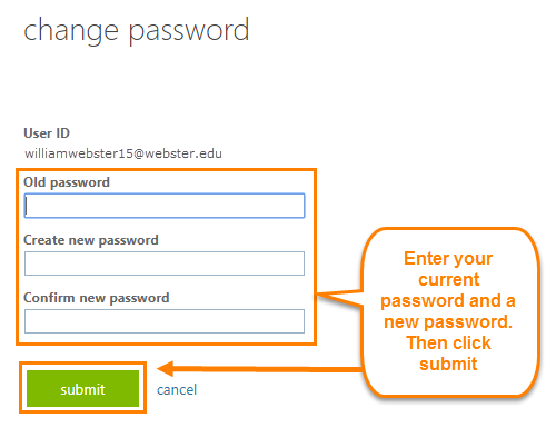 Office 365 Change Password
