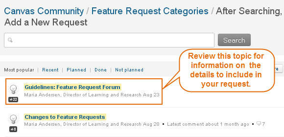 review the Guidelines for submitting requests