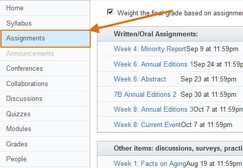 Access Assignments Tool