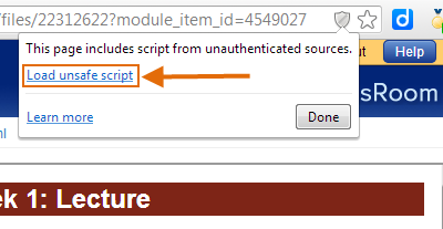 load the unsafe script