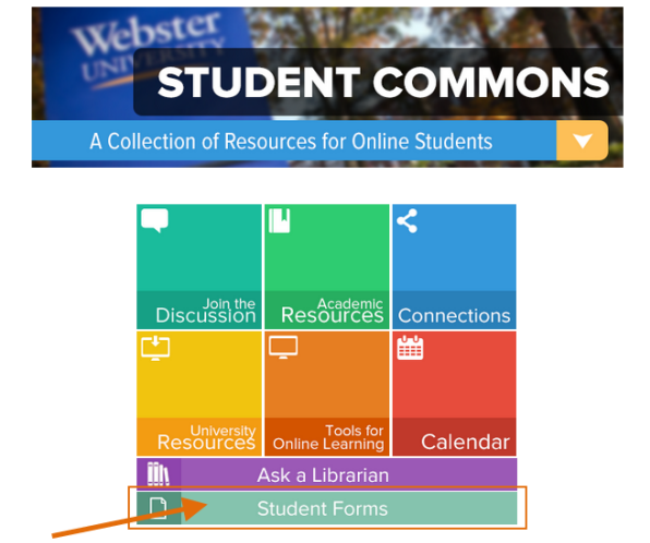Online Student Center Front Page