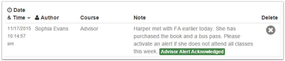 Acknowledging an Advisor Alert